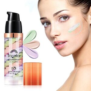Primer Face Makeup, Xshows One Step Makeup Primer Pores Perfect Cover Concealer Foundation for Cover Acne Marks Oil Control Moisturizing 40 ml